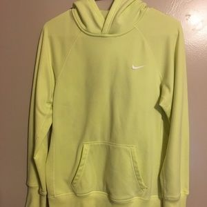 Nike neon yellow therma fit hoodie